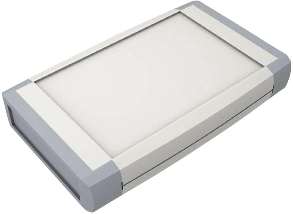 Plastová krabička Axxatronic CHH641NGY, 100 x 80 x 20 mm, ABS, IP65, svetlo sivá, 1 ks