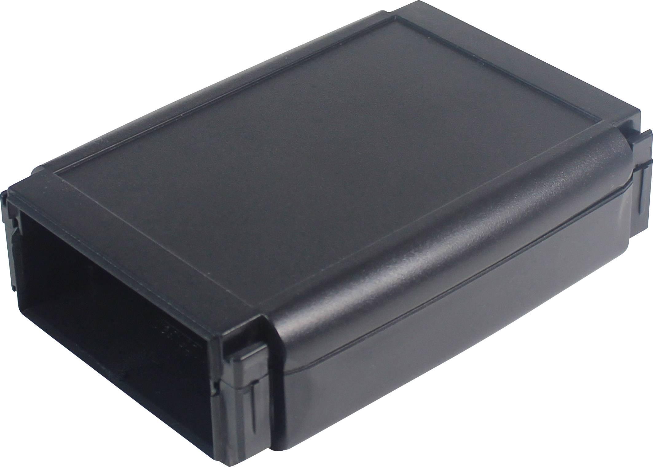 Plastová krabička Axxatronic CHH641NBK, 100 x 80 x 20 mm, ABS, černá, 1 ks