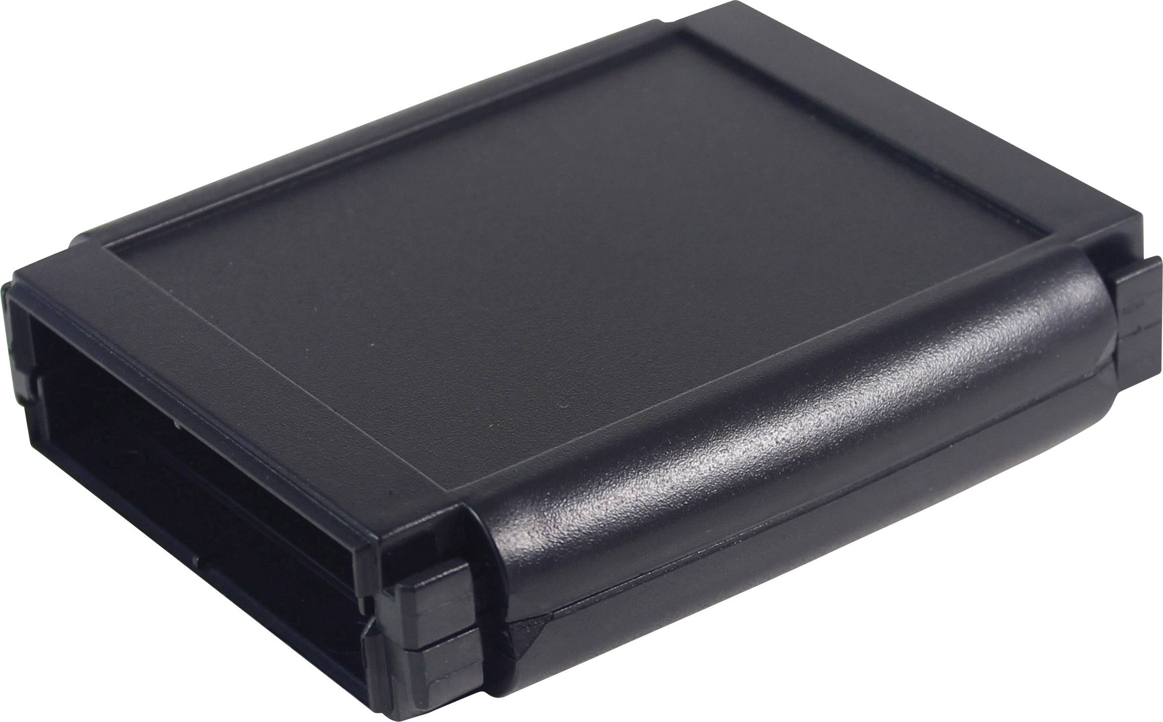 Plastová krabička Axxatronic CHH644BBK, 120 x 80 x 30 mm, ABS, IP65, čierna, 1 ks