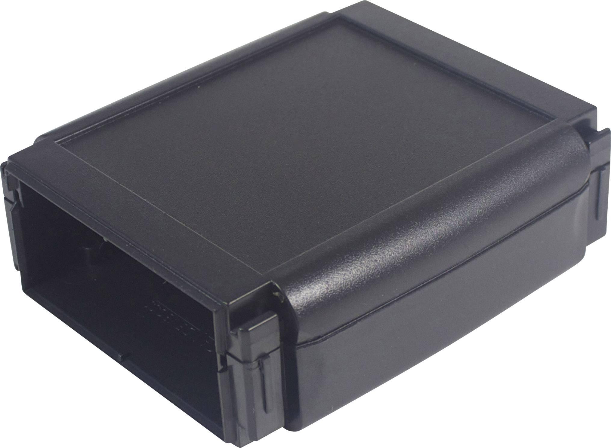 Plastová krabička Axxatronic CHH642BBK, 100 x 80 x 30 mm, ABS, černá, 1 ks