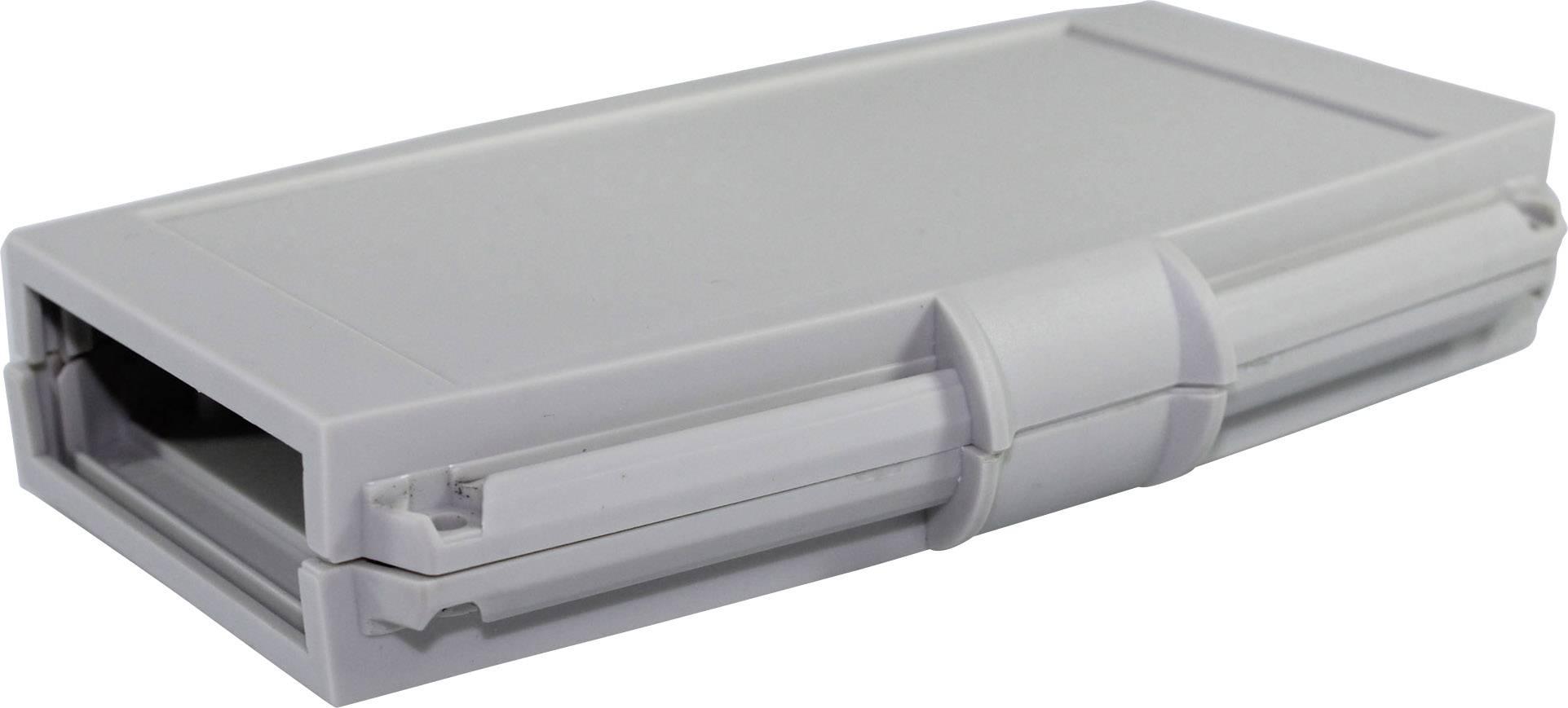 Plastová krabička Axxatronic CHH661NGY, 145 x 95 x 25 mm, ABS, světle šedá, 1 ks