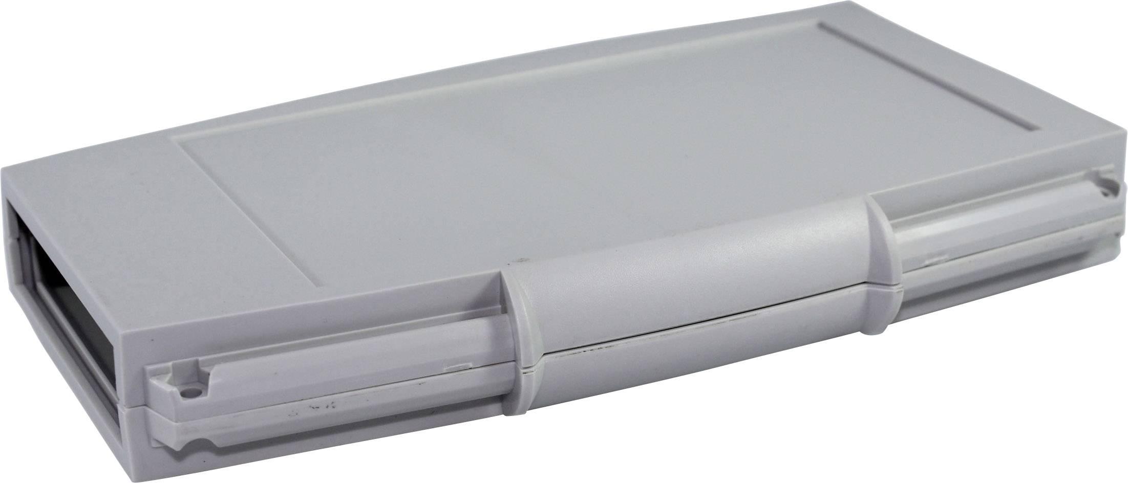 Plastová krabička Axxatronic CHH663NGY, 185 x 110 x 25 mm, ABS, světle šedá, 1 ks