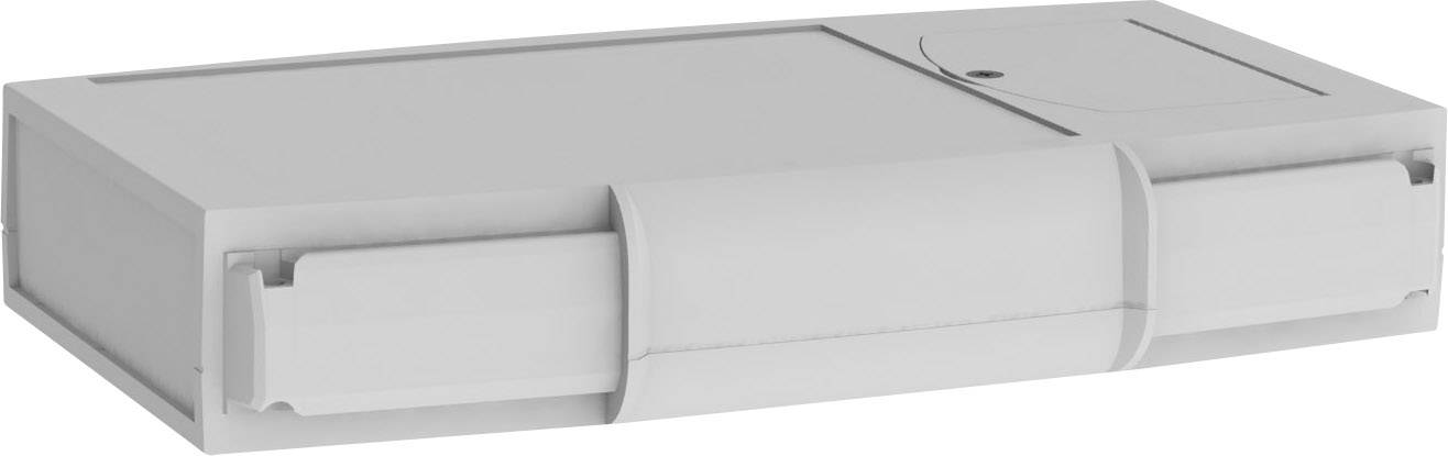 Plastová krabička Axxatronic CHH666BGY, 200 x 120 x 35 mm, ABS, svetlo sivá, 1 ks