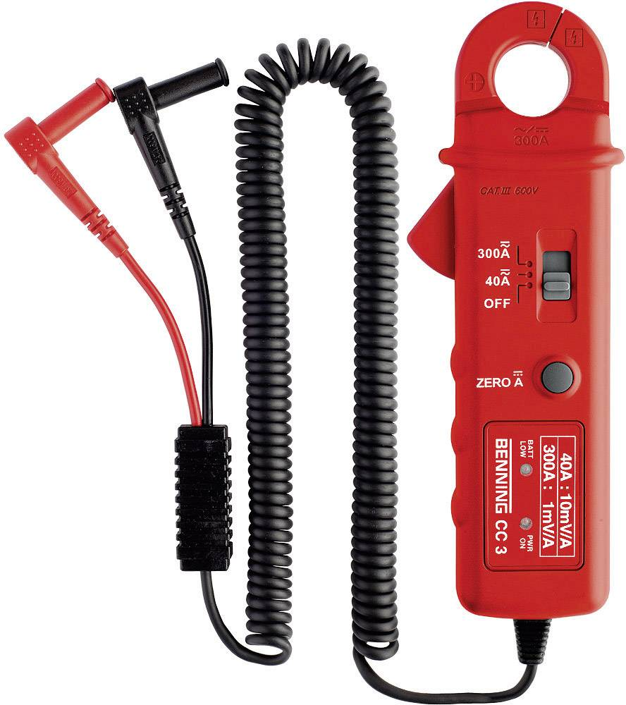 Klešťový proudový adaptér Benning CC 3, 1 - 300 A