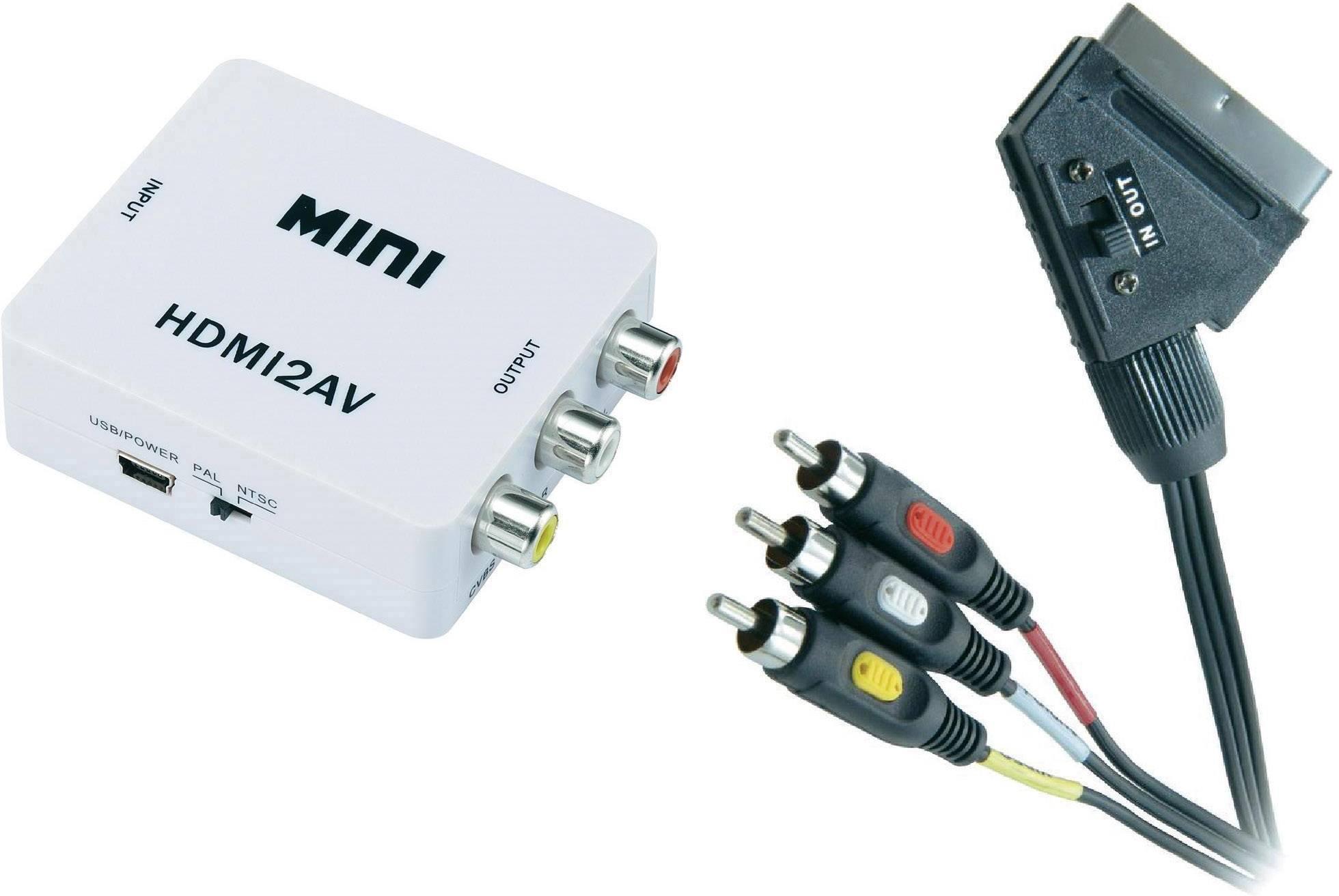 AV konvertor HDMI zásuvka ⇒ cinch zásuvka, SCART zástrčka SpeaKa Professional SP-5118188