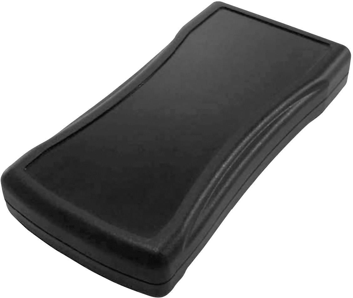 Plastová krabička Axxatronic CHH458PBK, 165 x 82.50 x 26 mm, ABS, černá, 1 ks