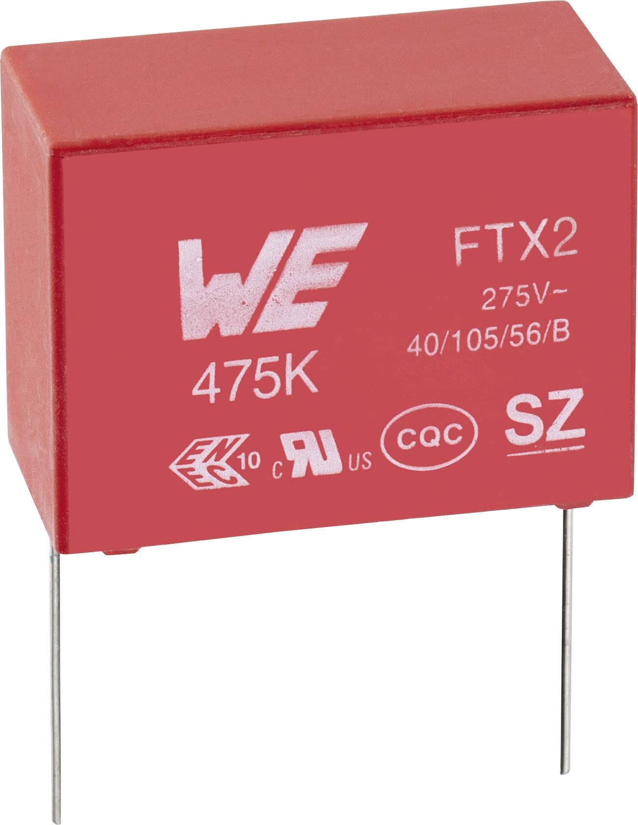 Fóliový kondenzátor Würth WCAP-FTX2, 890324023023CS, 100000 pF, 275 V / AC, 10%, RM 10 mm