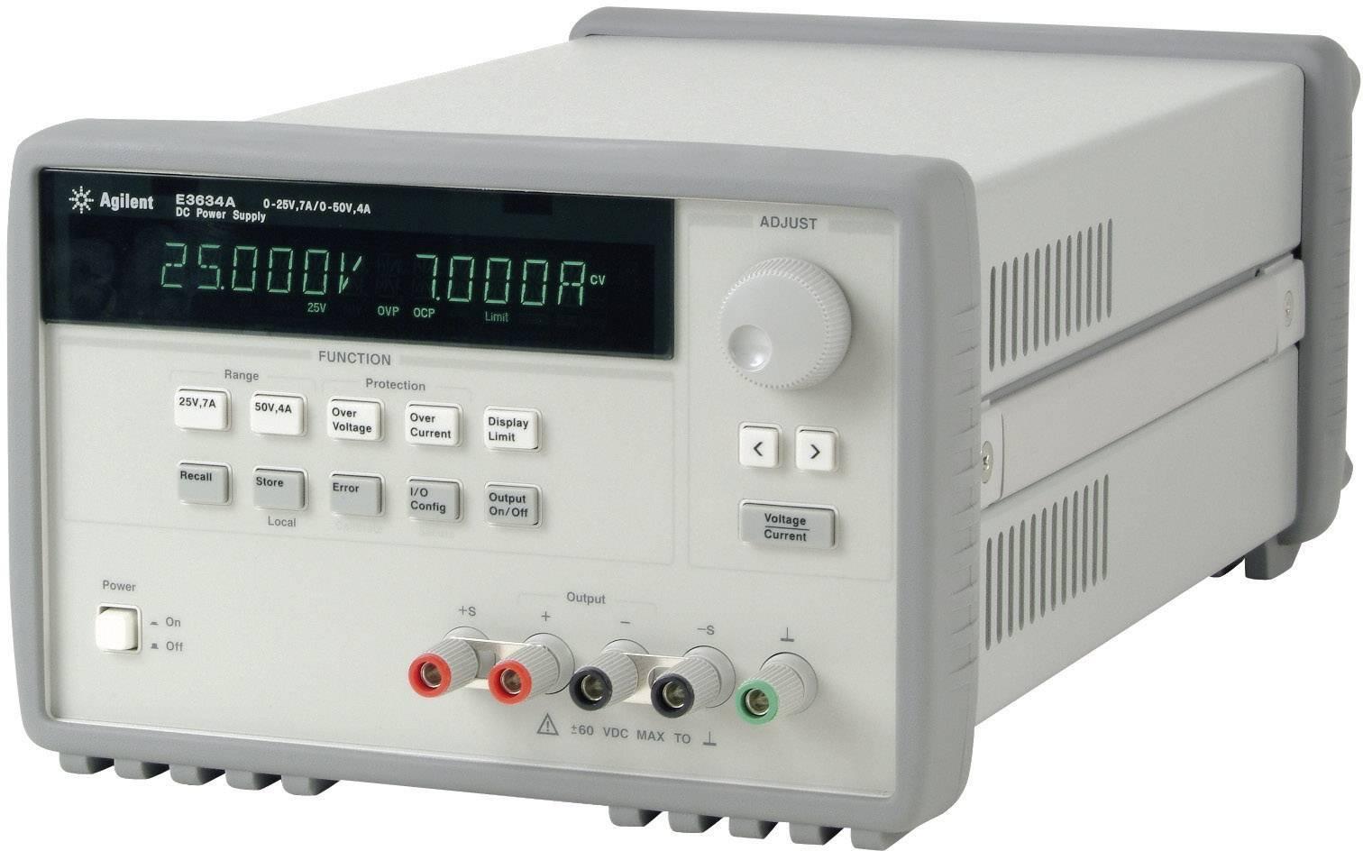 Laboratórny sieťový zdroj Keysight Technologies E3634A, 0 - 25 V/DC, 0 - 7 A, 200 W, 1 výstup