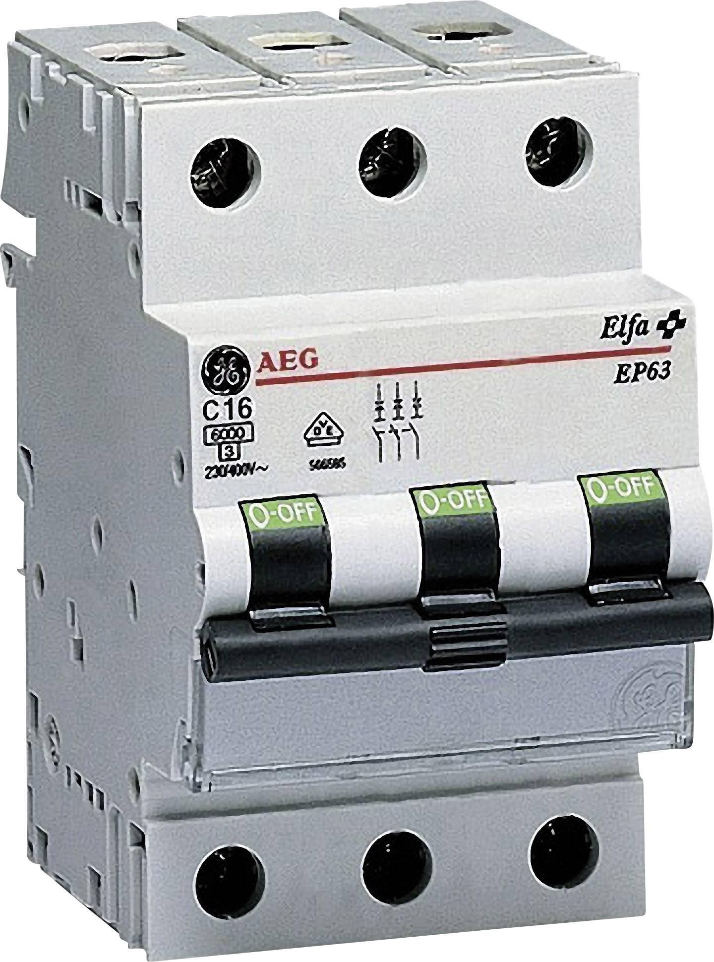 Elektrický jistič General Electric 566599, 3pólový, 16 A