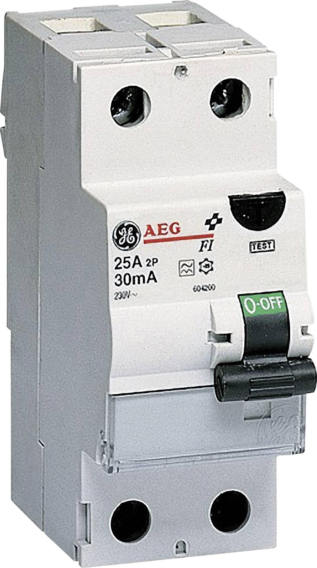 Proudový chránič General Electric 604200, 2pólový, 25 A, 0.03 A, 230 V