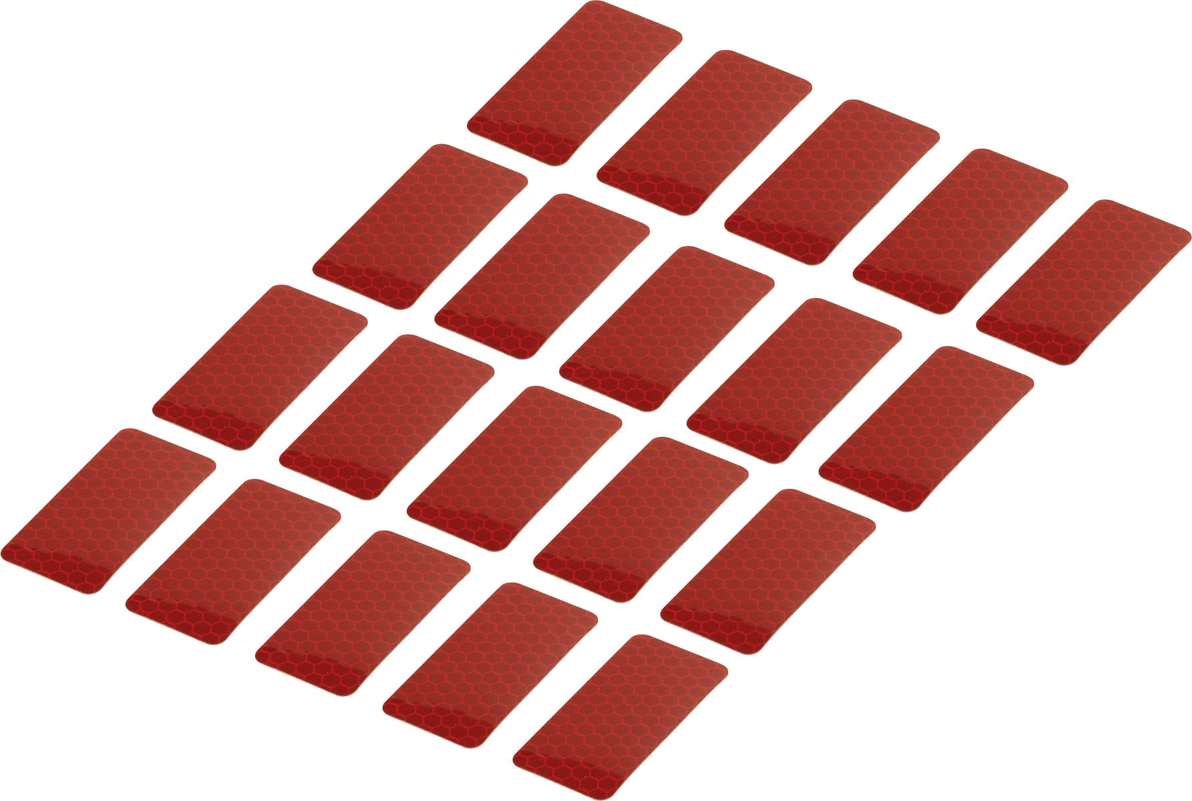 Adhesive strips Conrad Components RTS25/50-RD 1282802, (d x š) 50 mm x 25 mm, červená, 20 ks