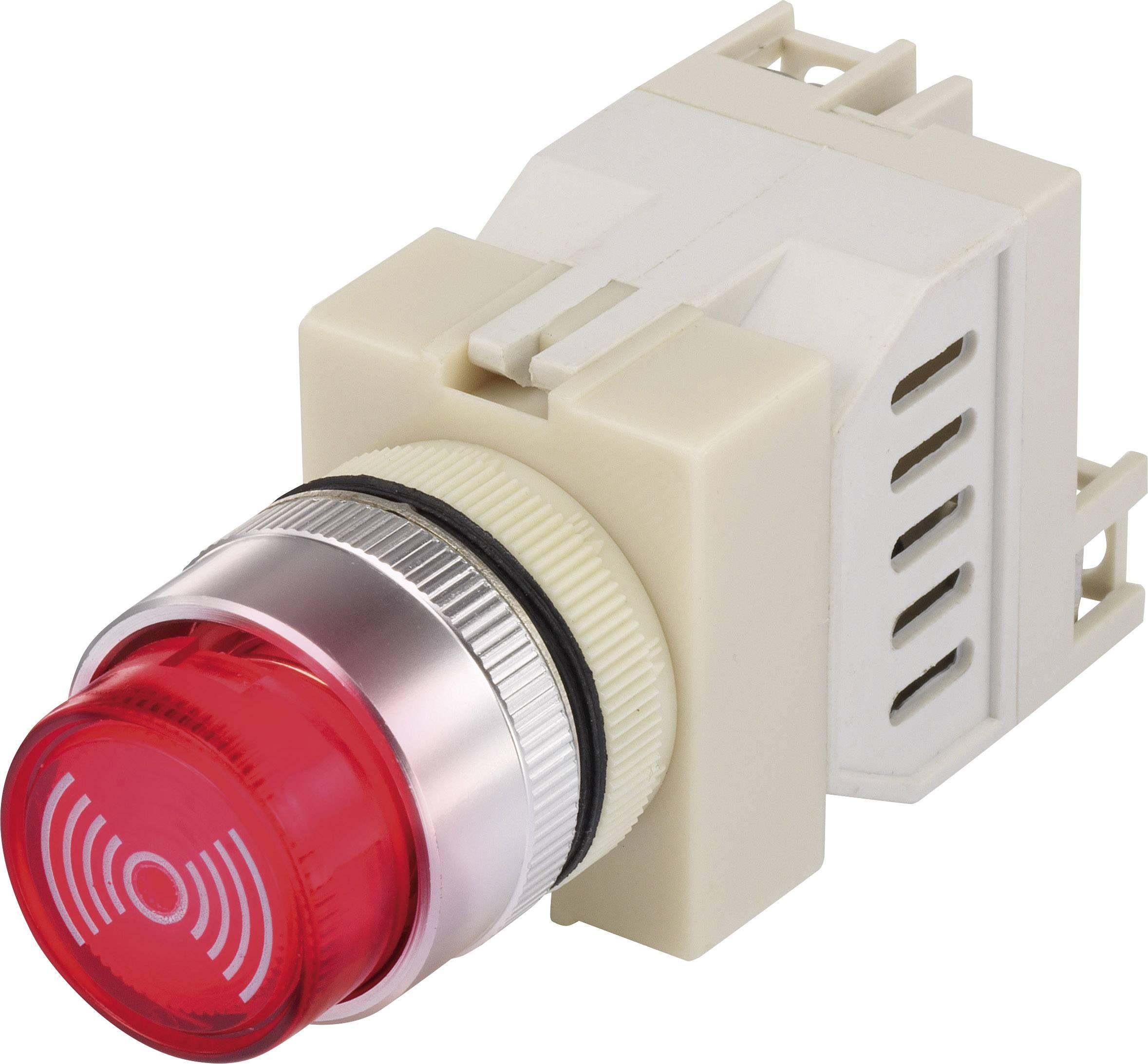 Miniaturní vestavný bzučák Y090-SM/R/12V (93032c2), 12 V/AC/DC, 75 dB, 22 mm