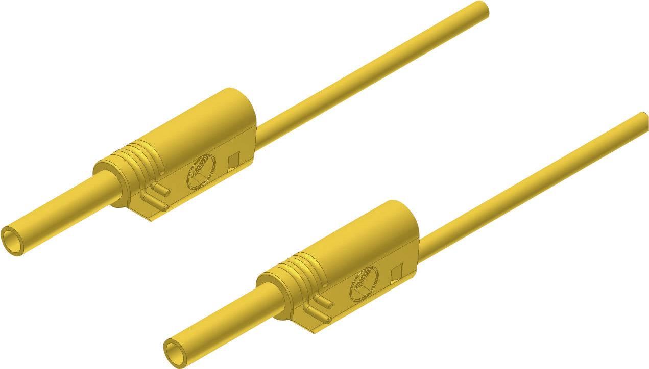 Merací kábel Hirschmann MVL S 50/1 mm², 2 mm, 0,5 m, žltý