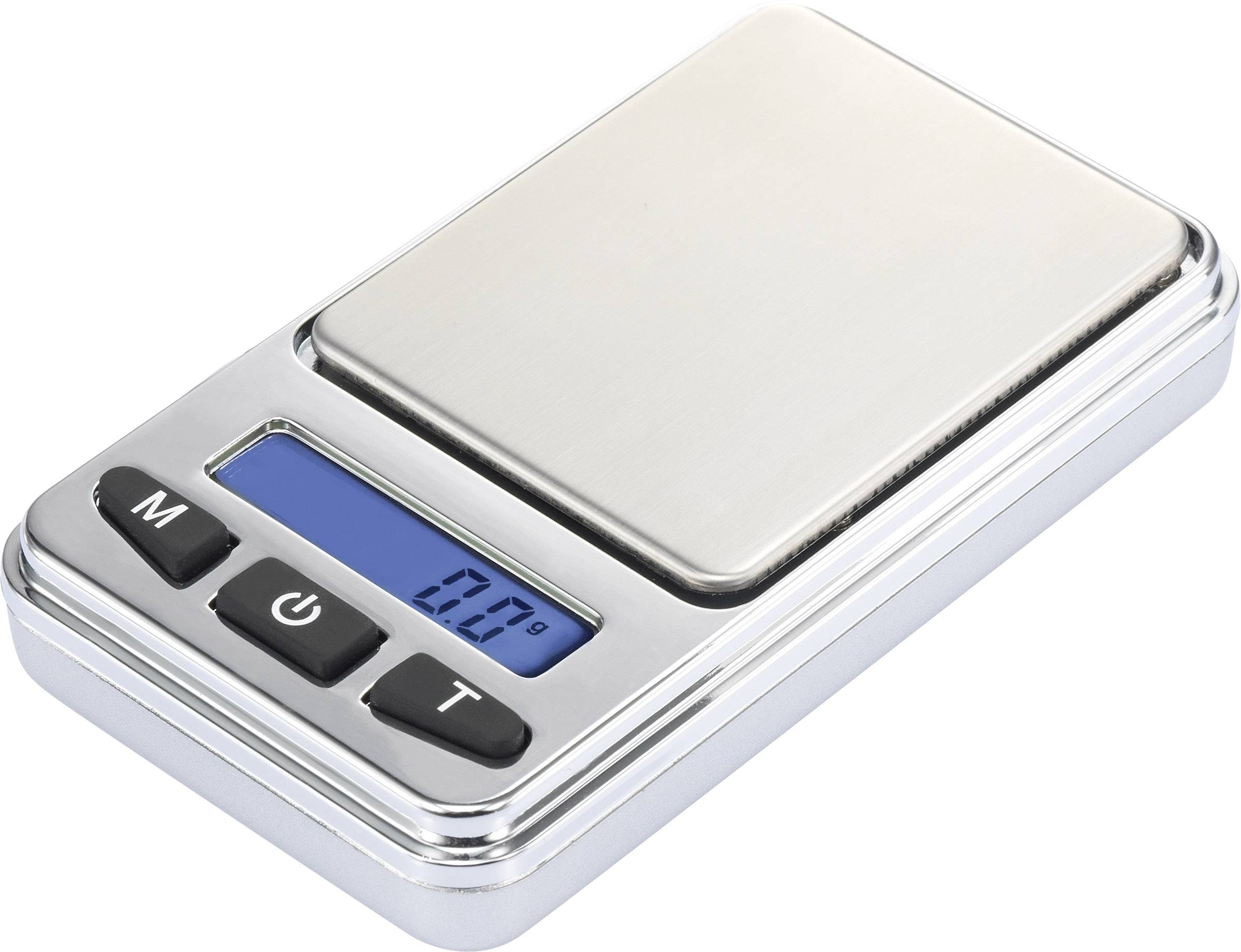 Kapesní váha Basetech , Max. váživost 200 g, Rozlišení 0.01 g, na baterii, stříbrná