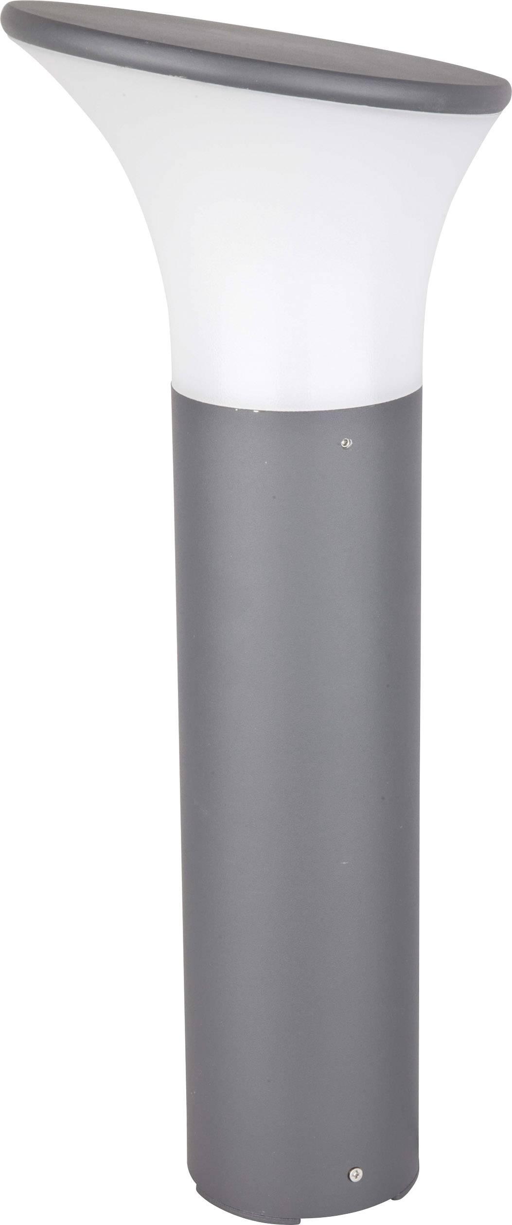 Úsporná žiarovka vonkajšiestojanovéosvetlenie Renkforce Rivoli 1283502, E27, 46 W, závisí na druhu žiarovky, tmavosivá