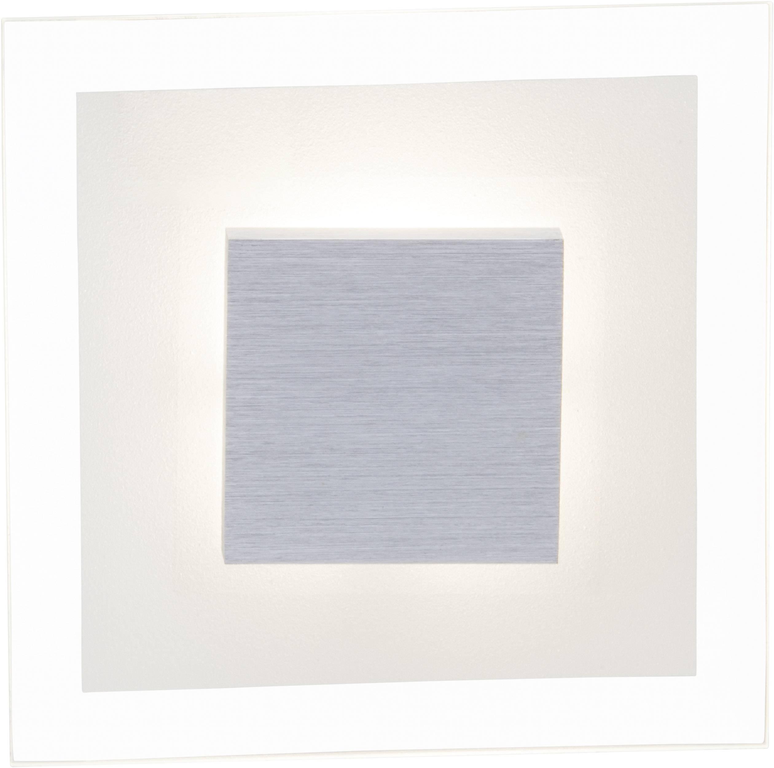 LED nástenné svetlo Brilliant Budimpešta G94248/70, 5 W, teplá biela, chróm, priehľadná