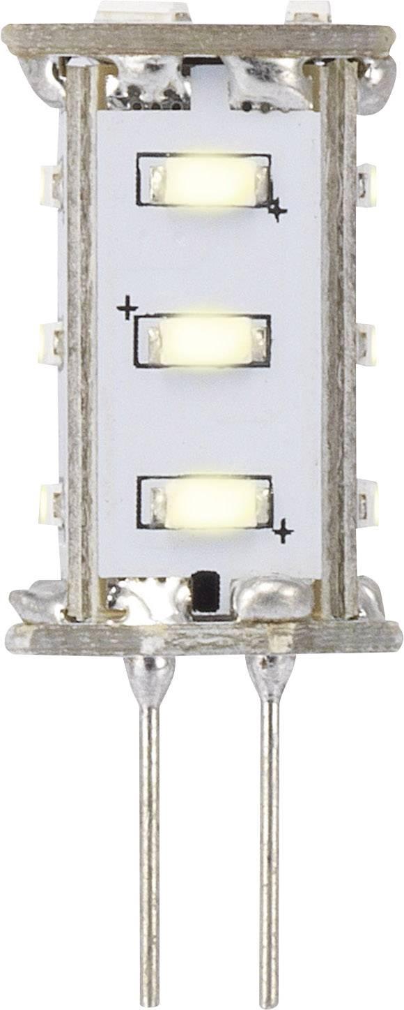 LED žárovka Renkforce 12 V, G4, 33 mm, 0.8 W = 8 W, teplá bílá