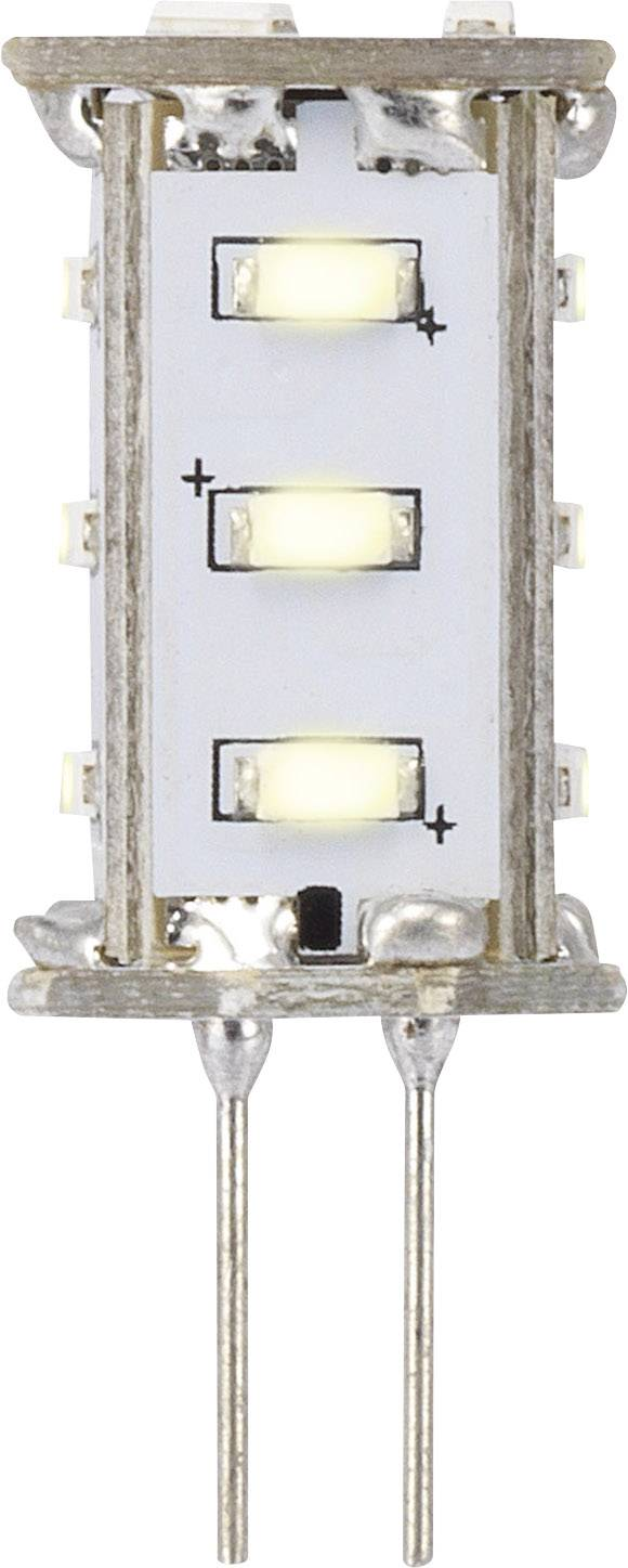 LED žiarovka RENKFORCE 12 V, G4, 33 mm, 0.8 W = 8 W, teplá biela