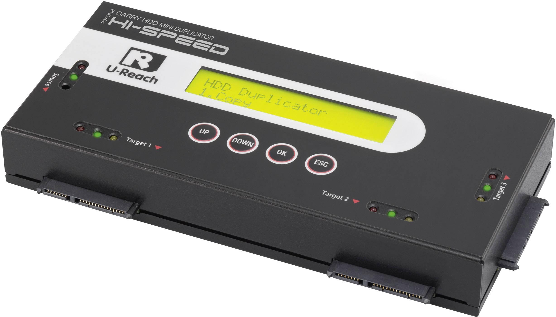 3násobná duplikační stanice pevných disků Renkforce PRO368 SATA s funkcí mazání, přenositelná