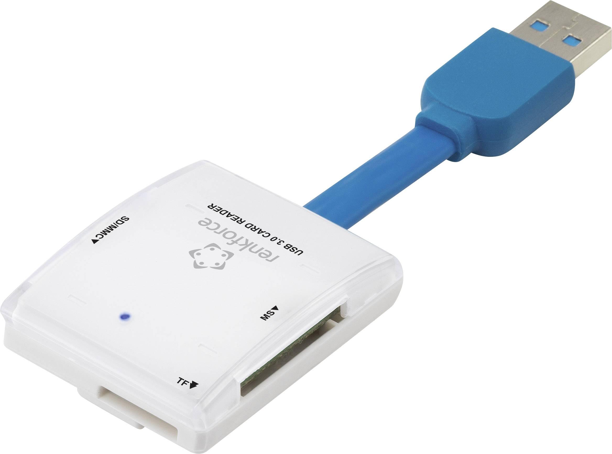 Externá čítačka pamäťových kariet RENKFORCE G-C3324, USB 3.0, biela