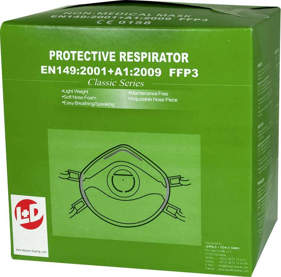 Respirátor proti jemnému prachu, s ventilem Upixx 26184, 10 ks