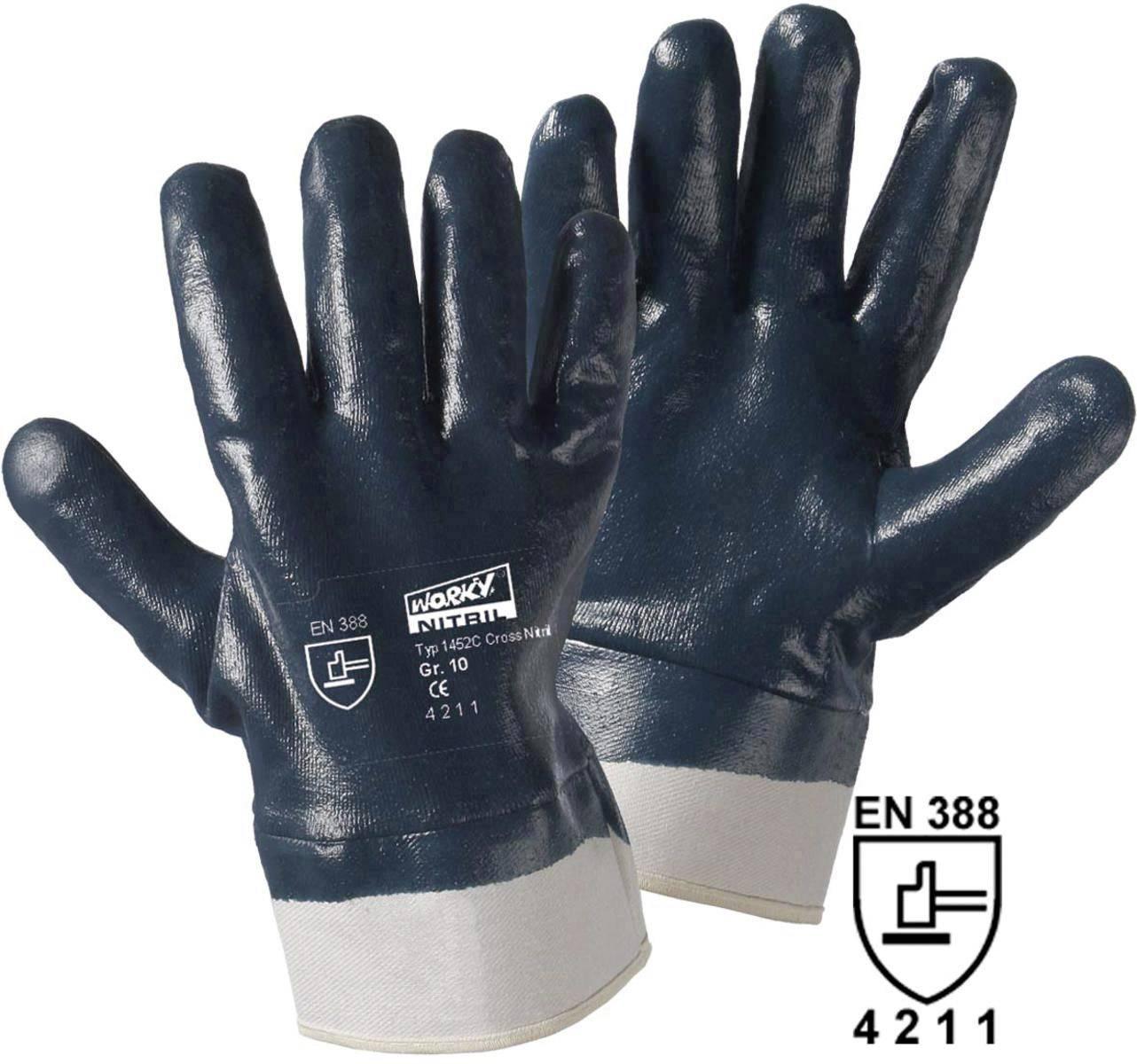 Pracovné rukavice worky Cross Nitril 1452C