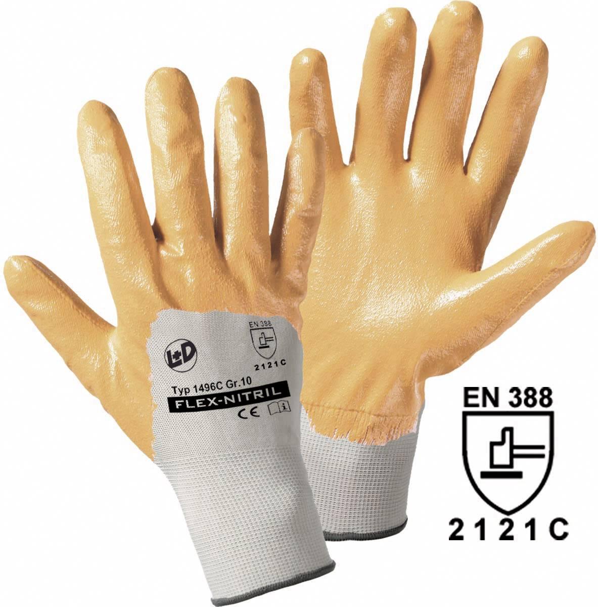 Pracovné rukavice worky Flex-Nitril 1496C, veľkosť rukavíc 7, S