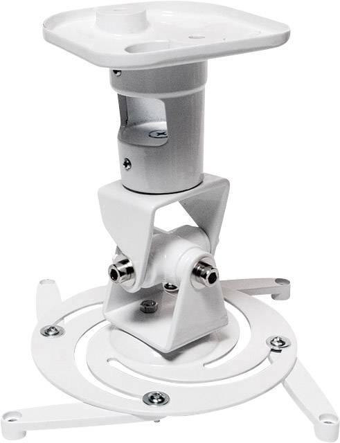 Stropní držák projektoru naklápěcí, otočný LogiLink BP0003 BP0003, bílá