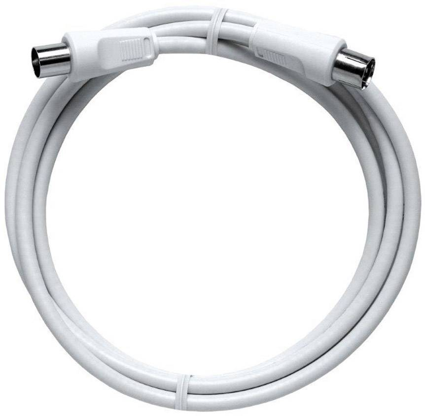 Anténni kabel Axing BAK 150-90, 85 dB, 1.50 m, bílá
