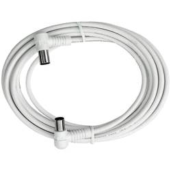 Antény kabel Axing BAK 503-00, 85 dB, 5 m, bílá
