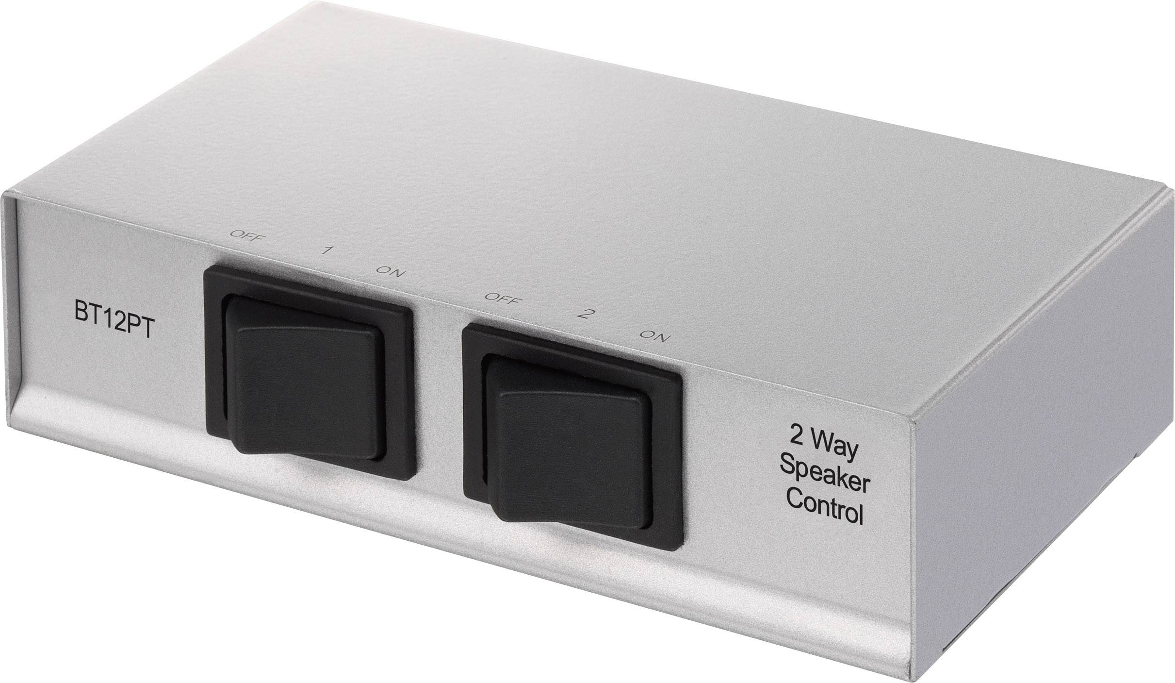 Prepínač reproduktorov SpeaKa Professional 1289573, s 2 portmi, strieborná