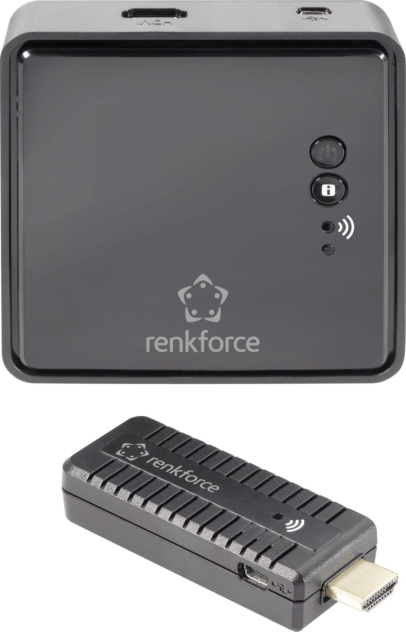 Bezdrátový přenos HDMI signálu Renkforce 10 m, 5 GHz, 1920 x 1080 px, černá
