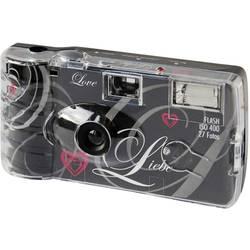 Topshot Love Black jednorázový fotoaparát 1 ks s vestavěným bleskem