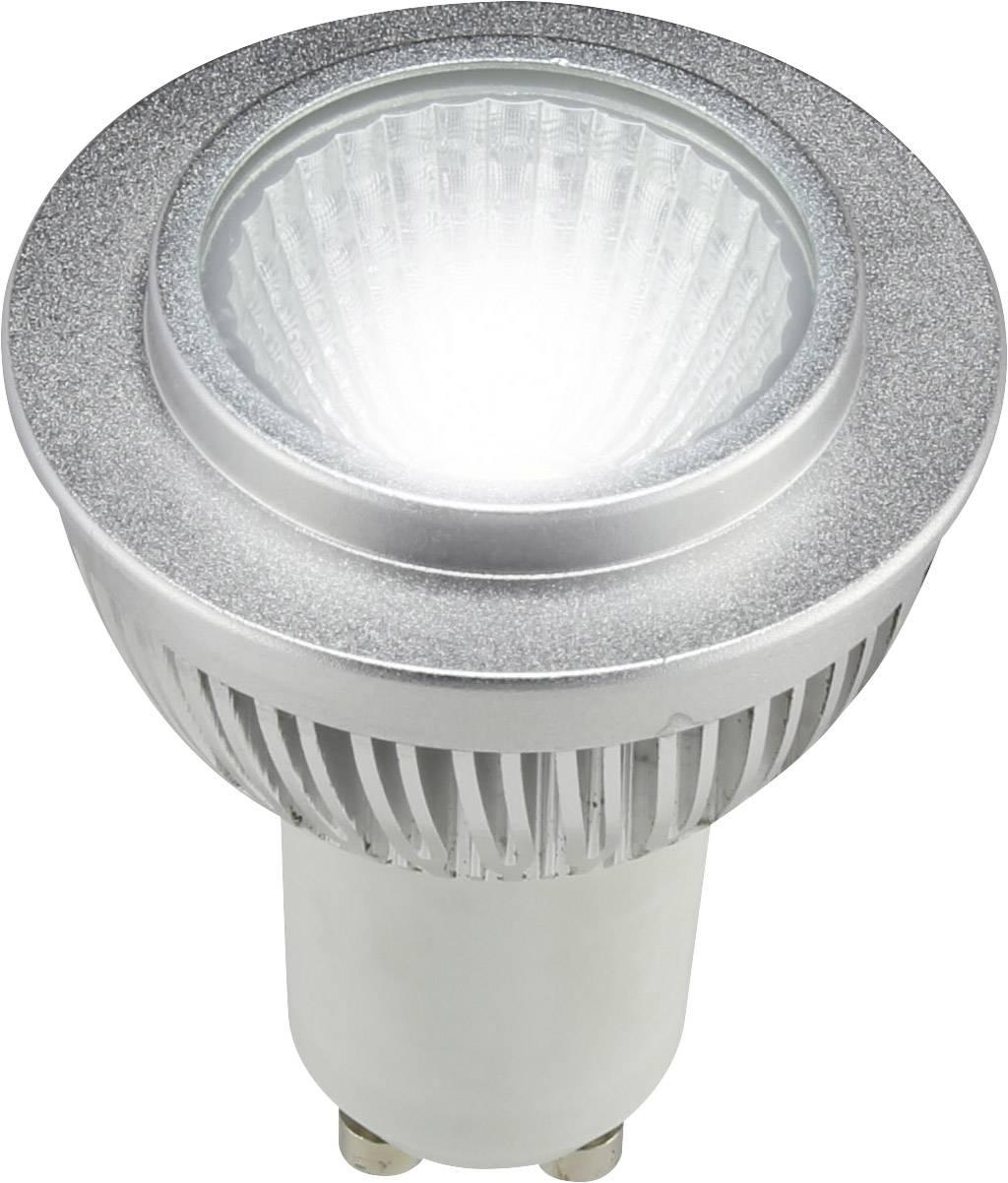 LED Sygonix 230 V, GU10, 4 W = 25 W, 64.50 mm, studená bílá, A+ (A++ - E), reflektor 1 ks