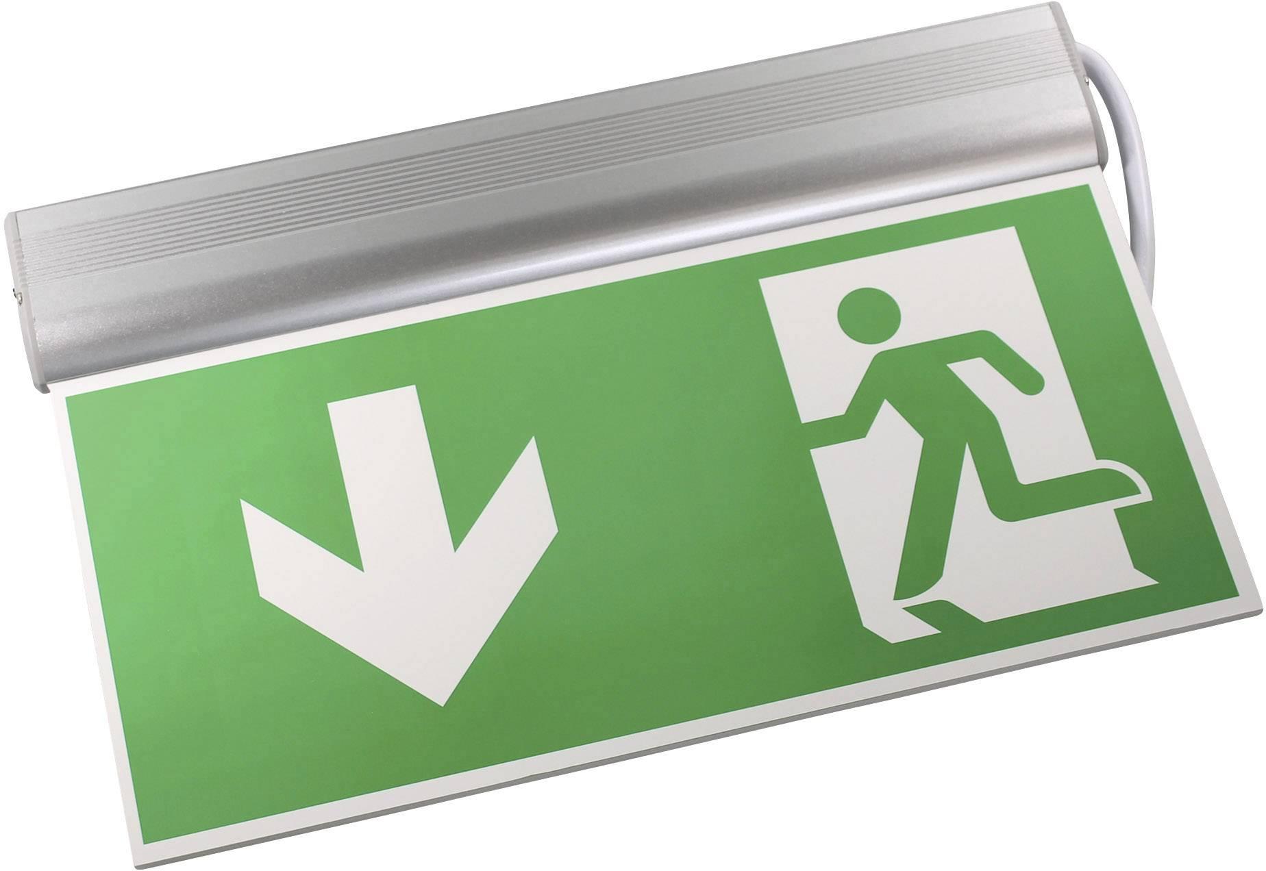 Nouzové osvětlení únikových cest Sensorit Senso-Exit Aluminium Standard AL