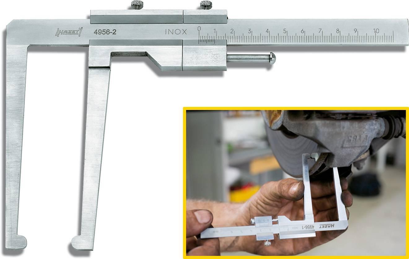 Měřič opotřebení brzdových kotoučů Hazet 4956-1, měřicí rozsah 60 mm, Kalibrováno dle podnikový standard (bez certifikátu) (own)