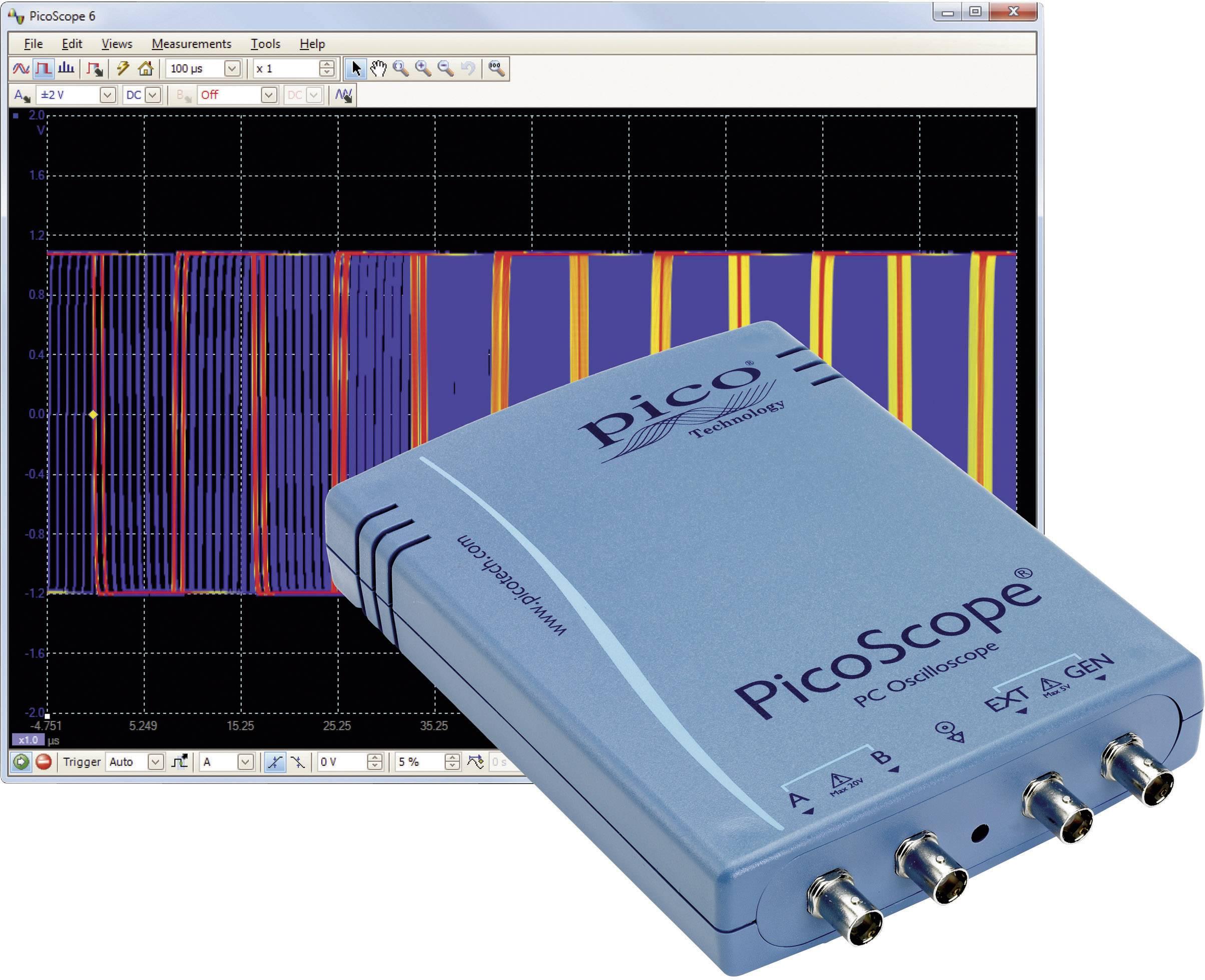 USB, PC osciloskop pico PP710, 100 MHz, 2-kanálový