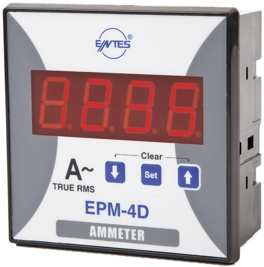 Panelový programovateľný ampérmeter ENTES, EPM-4D-96, 50 mA - 10 kA