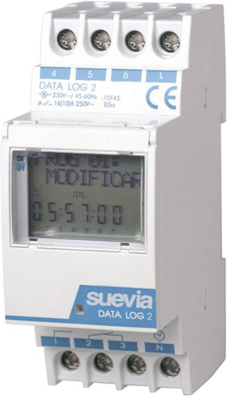 Časovač na DIN lištu Suevia Data Log II, 230 V/AC, 16 A/250 V