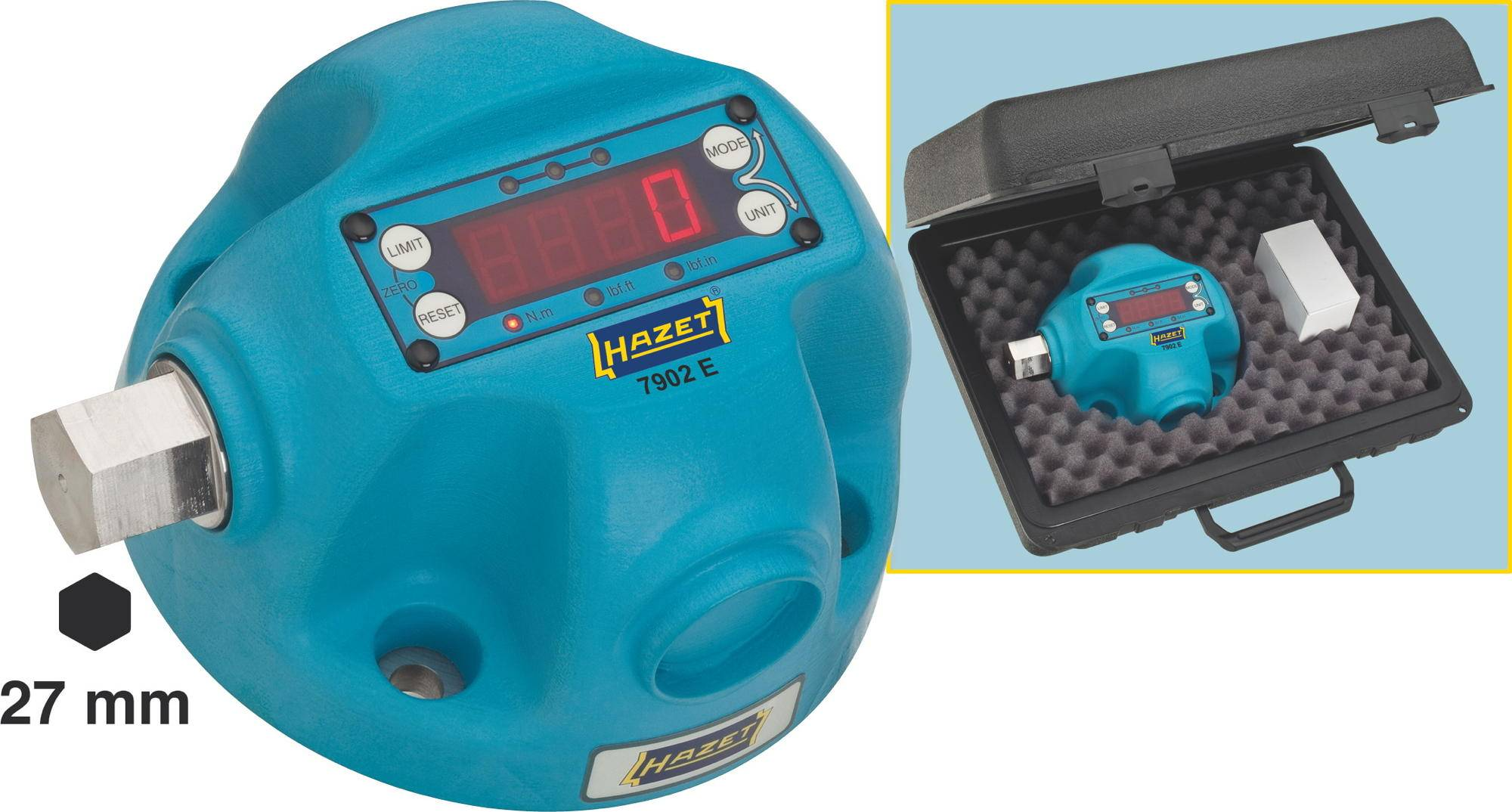 Digitální tester točivého momentu Hazet, 7902E, 100 - 1000 Nm