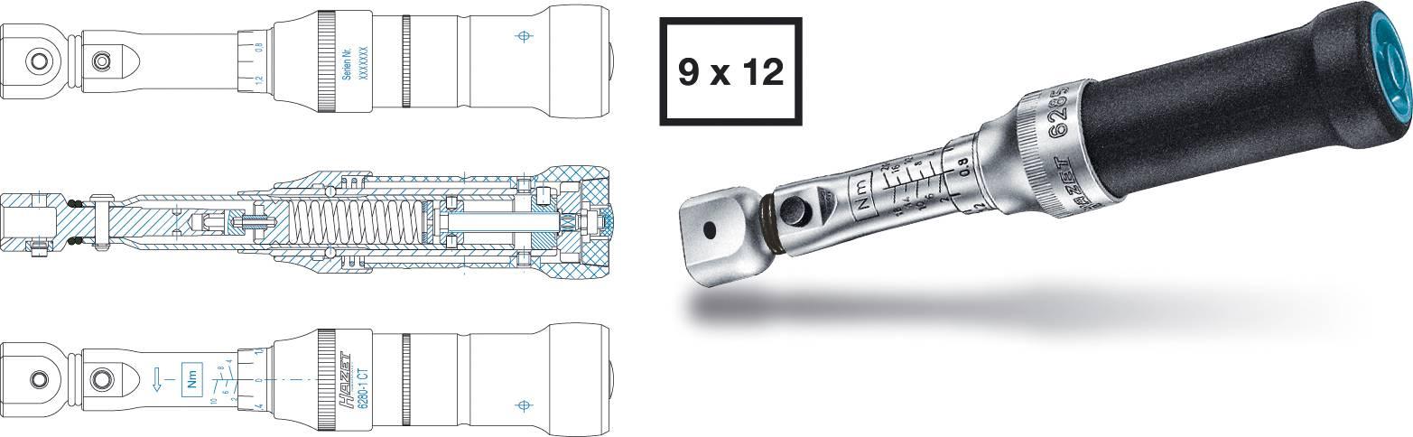 Momentový klíč Hazet System 6000 CT, 6280-1CT, ± 2% přesnost