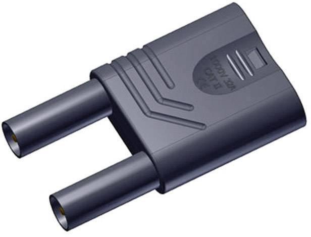 Bezpečnostný skratový mostík SKS Hirschmann KST S WS sw, Ø hrotu 4 mm, čierna, 1 ks