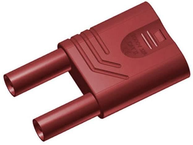 Bezpečnostný skratový mostík SKS Hirschmann KST S WS rt, Ø hrotu 4 mm, červená, 1 ks