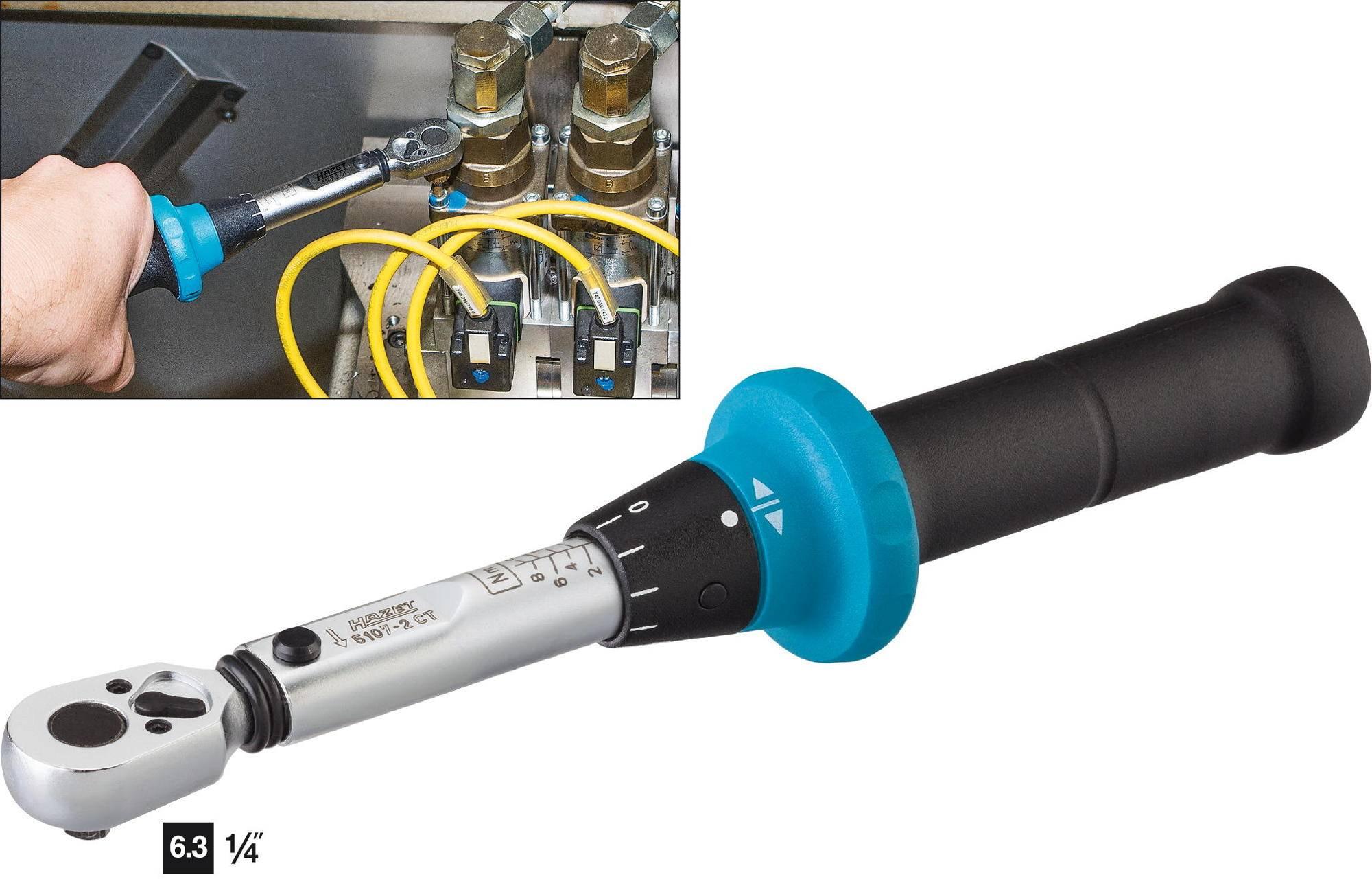 Momentový klíč s přepínací ráčnou Hazet System 5000-2 CT, 5107-2CT