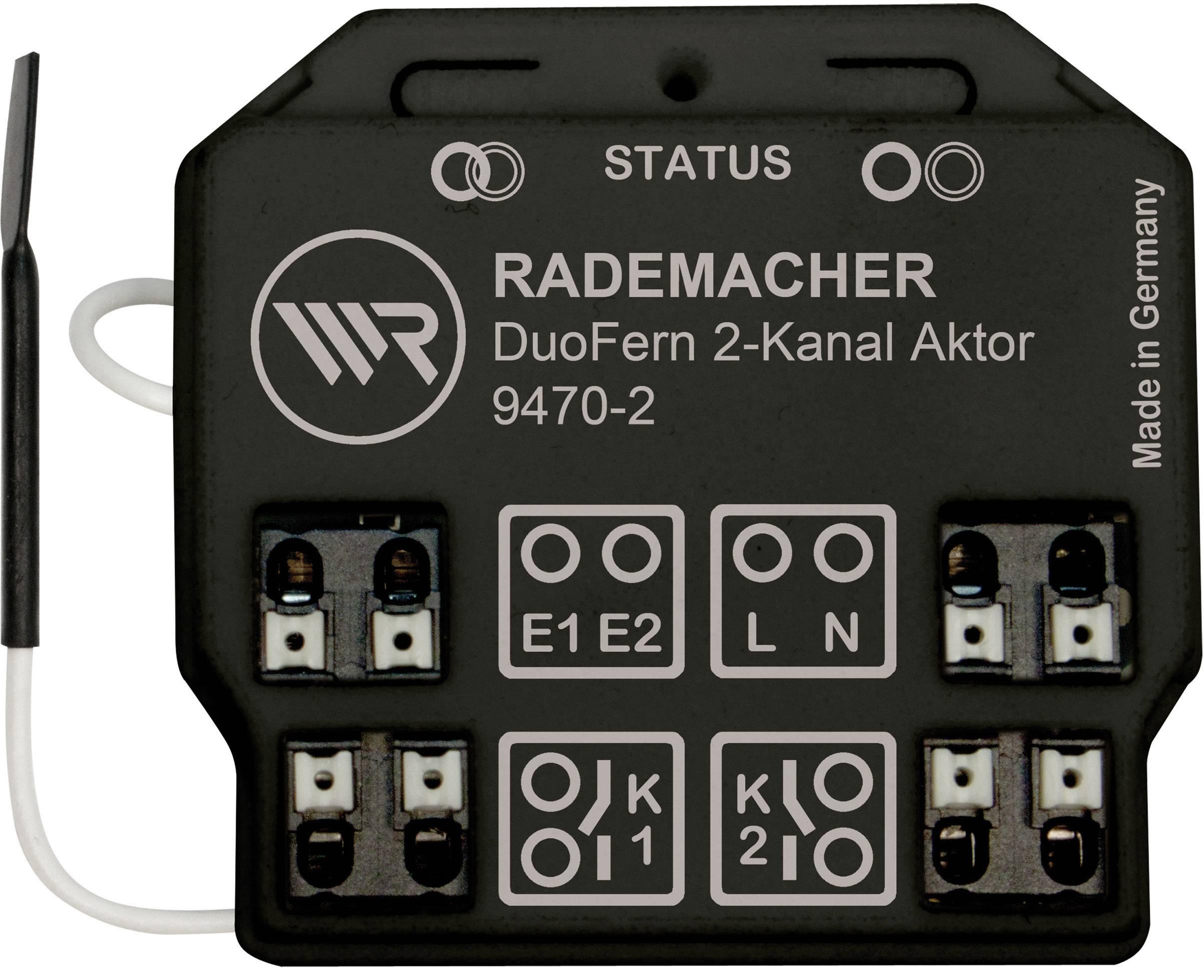 Bezdrôtový spínač pod omietku WR Rademacher Rademacher DuoFern 35140262, 2-kanálová