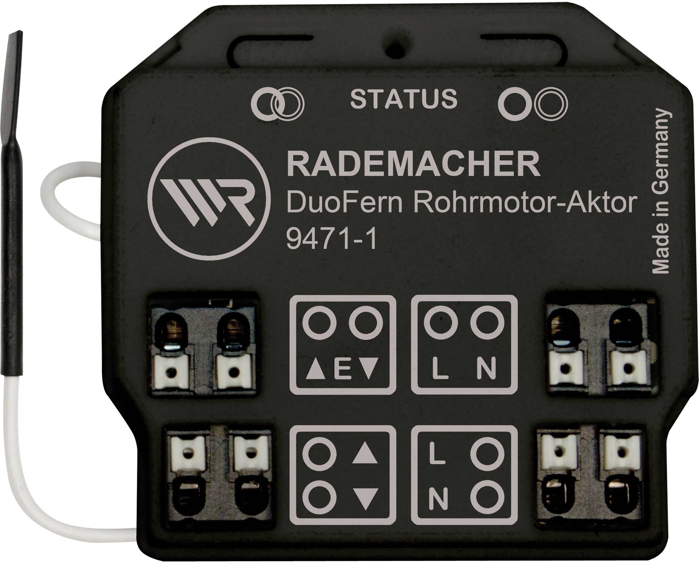 Spínací prvok rúrkového motora pod omietku WR Rademacher DuoFern DuoFern 9471-1 35140662, 1-kanálový