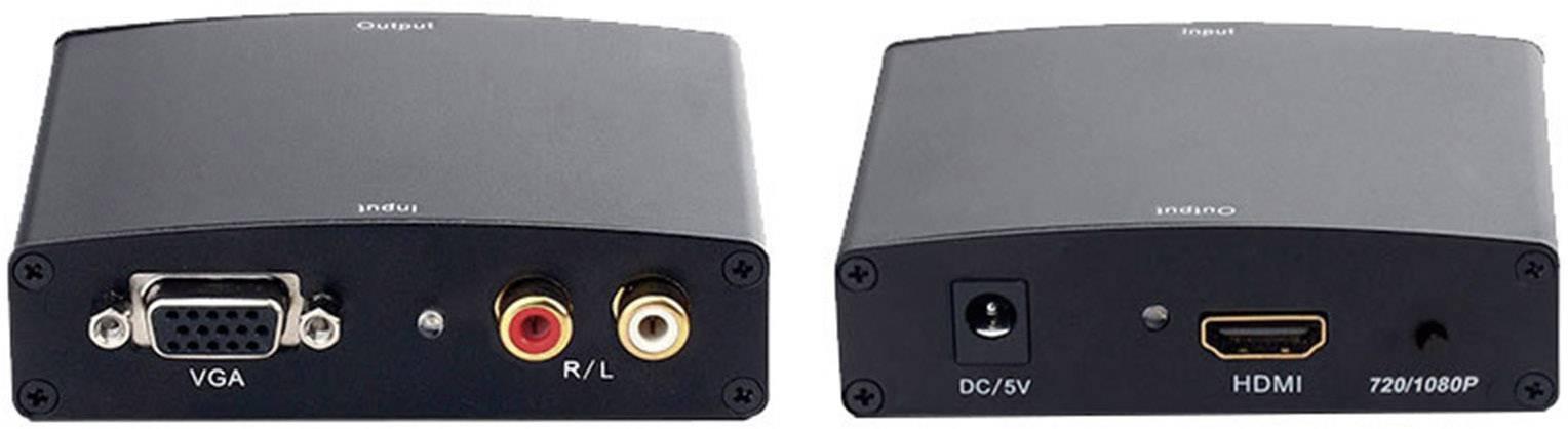 AV konvertor Inakustik 009120603, cinch zásuvka, VGA zásuvka ⇔ HDMI zásuvka