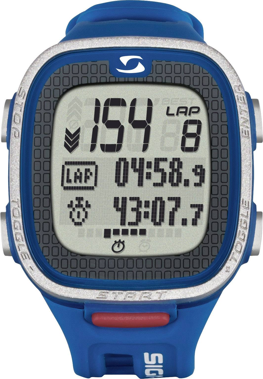 Hodinky s meraním tepovej frekvencie (športtester), vr. hrudného pásu Sigma PC 26.14 blue