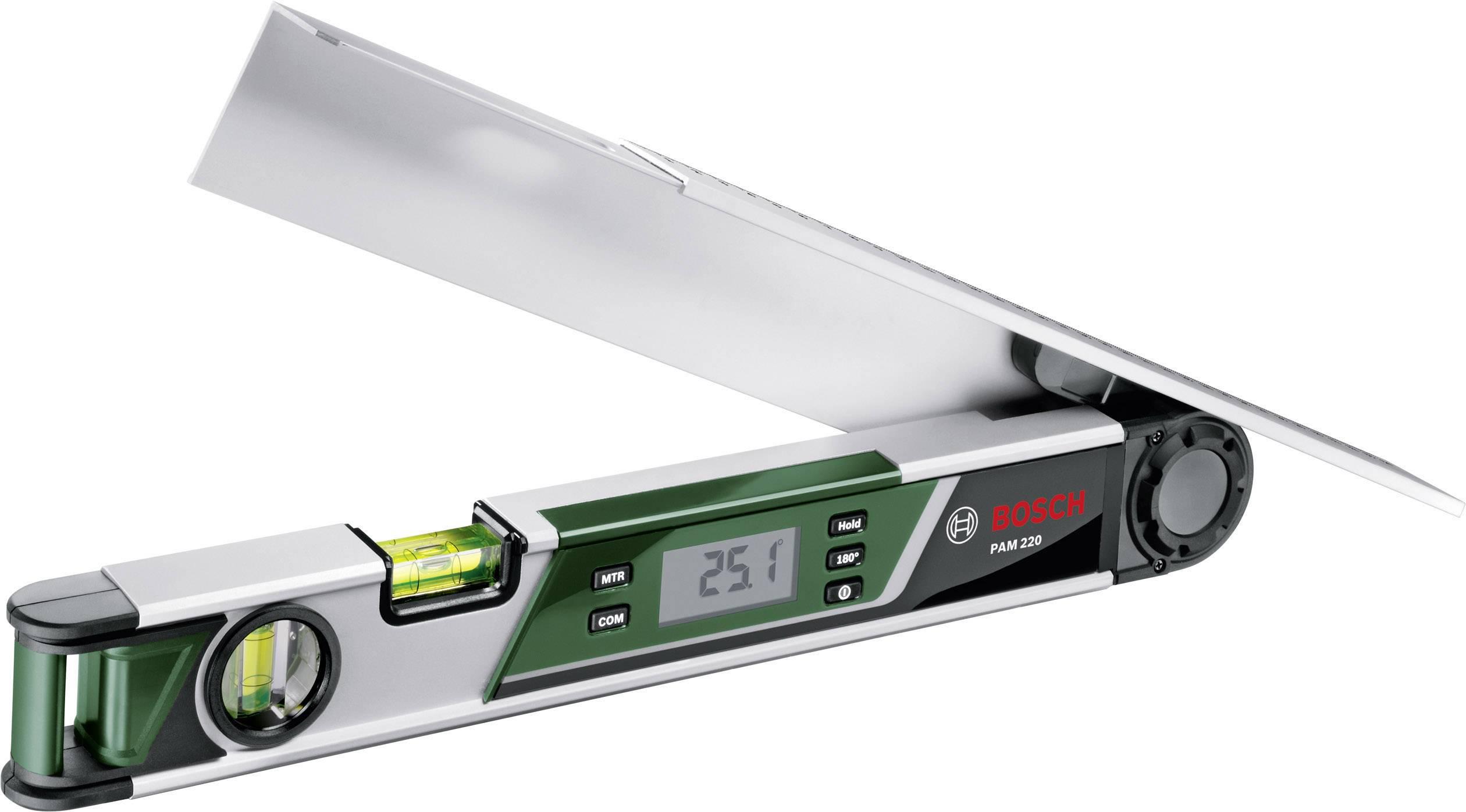 Digitální úhloměr Bosch PAM 220, 0 - 220 °