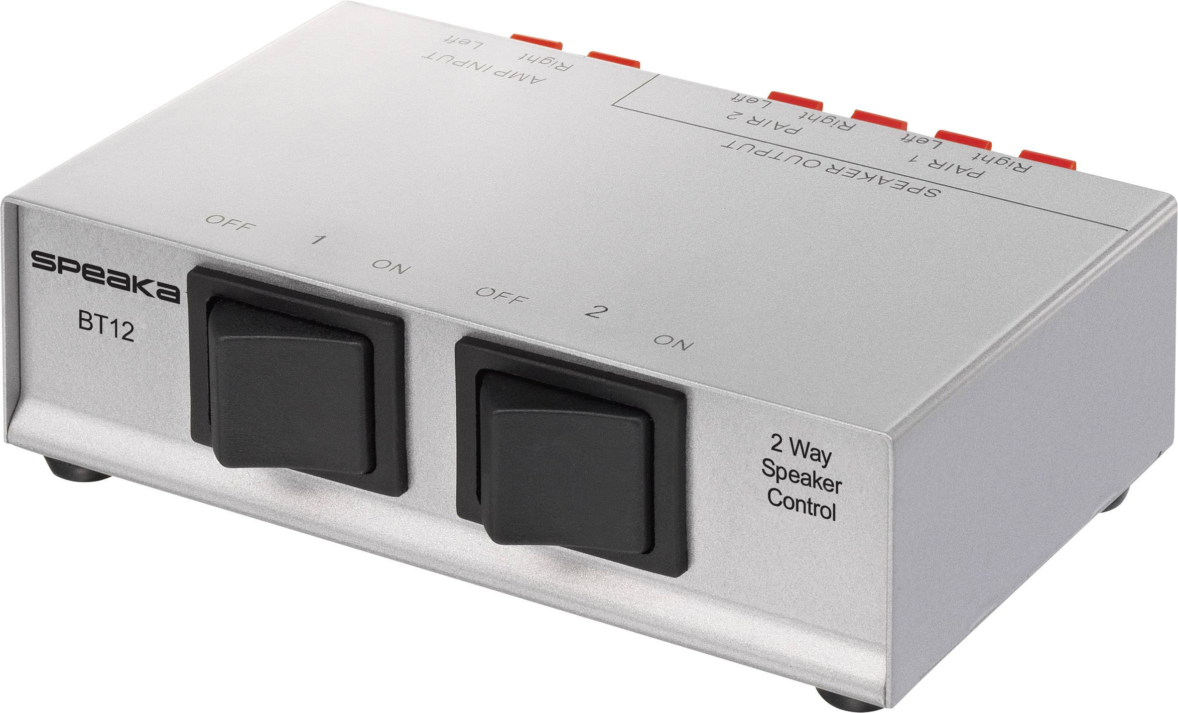 Přepínač reproduktorů SpeaKa Professional 2 porty, stříbrná